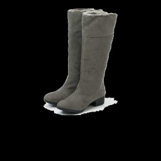 このコーデで使われているブーツ[グレー/キャメル]