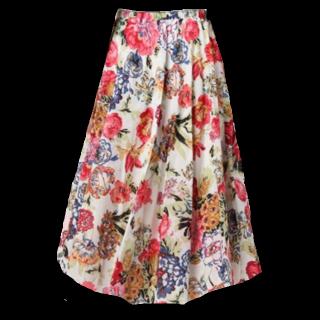 このコーデで使われているr.p.sのマキシ丈スカート[ホワイト/レッド]