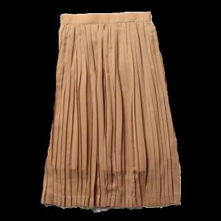 このコーデで使われているDemi-Luxe BEAMSのスカート[ベージュ/ピンク/キャメル]