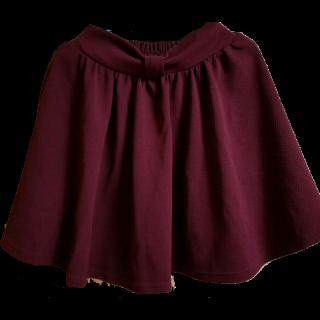 このコーデで使われているひざ丈スカート[ボルドー]