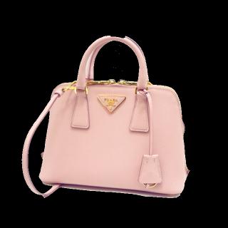 このコーデで使われているPRADAのハンドバッグ[ピンク]