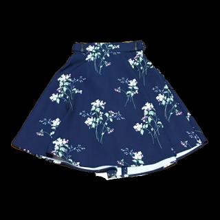 このコーデで使われているMAJESTIC LEGONのひざ丈スカート[ネイビー]