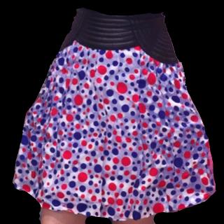 このコーデで使われているJean Paul GAULTIERのミニスカート[ブルー/レッド/ホワイト]