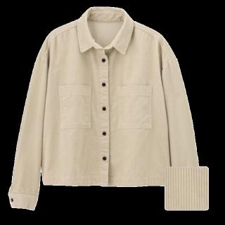 このコーデで使われているGUのジャケット[ベージュ]