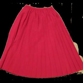 このコーデで使われているプリーツスカート[ピンク]