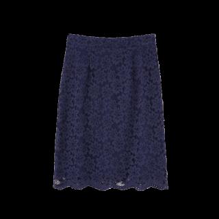 このコーデで使われているPROPORTION BODY DRESSINGのひざ丈スカート[ネイビー]