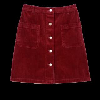 このコーデで使われているGRLのタイトスカート[レッド/ボルドー]