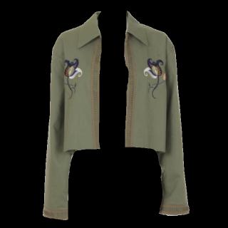 このコーデで使われているMURUAのジャケット[カーキ]