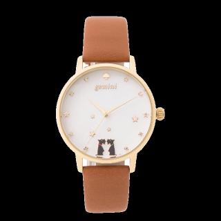 このコーデで使われているkate spadeの腕時計[キャメル]