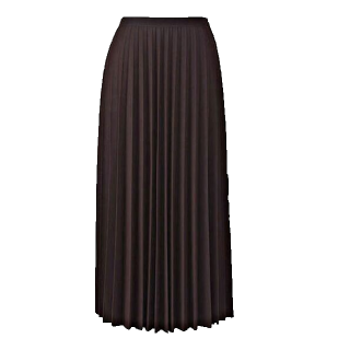 このコーデで使われているUNIQLOのプリーツスカート[ボルドー]