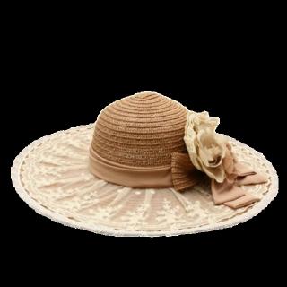 このコーデで使われているaxes femmeの女優帽[キャメル]