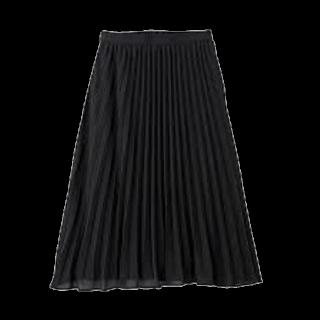 このコーデで使われているGUのプリーツスカート[ブラック]