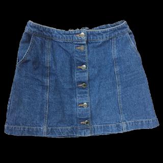 このコーデで使われているしまむらのタイトスカート[ネイビー/ブルー]