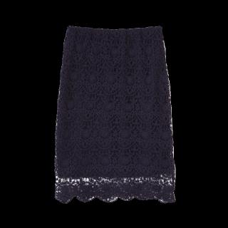 このコーデで使われている&byP&Dのタイトスカート[ネイビー]