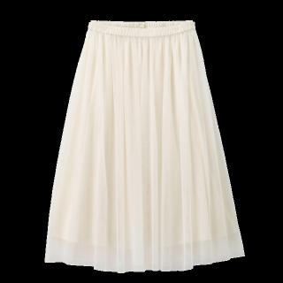 このコーデで使われているGUのチュールスカート[ホワイト]