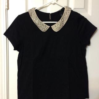このコーデで使われているH&MのTシャツ/カットソー[ブラック/シルバー]