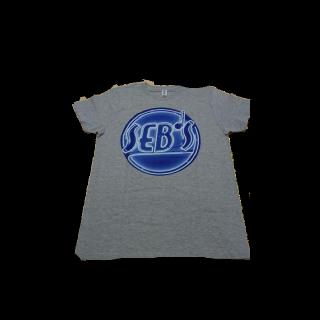 このコーデで使われている手作りのTシャツ/カットソー[グレー/ブルー]