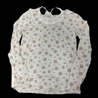 このコーデで使われているOLIVEdesOLIVEのTシャツ/カットソー[グレー/レッド]