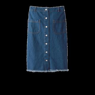このコーデで使われているGRLのデニムスカート[ブルー]