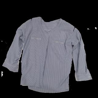 このコーデで使われているシャツ/ブラウス[ホワイト/ネイビー]
