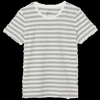 このコーデで使われているMUJI(無印良品)のTシャツ/カットソー[グレー/ホワイト]