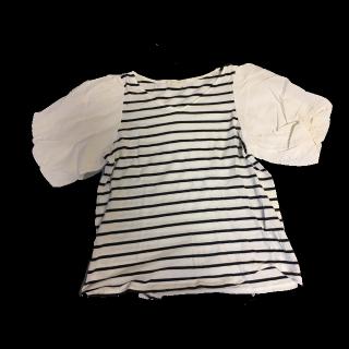このコーデで使われているDiscoatのTシャツ/カットソー[ホワイト/ネイビー]
