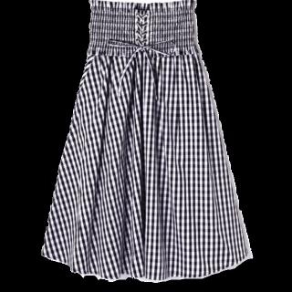 このコーデで使われているFREE'S MARTのフレアスカート[ブラック/ホワイト]