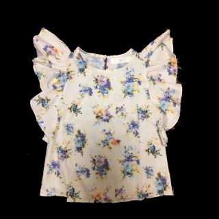 このコーデで使われているtocco closetのシャツ/ブラウス[ベージュ/ブルー/オレンジ]