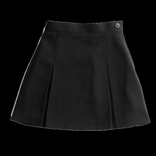 このコーデで使われているGRLのひざ丈スカート[ブラック]