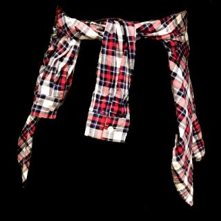 このコーデで使われているシャツ/ブラウス[レッド/ホワイト/ネイビー]