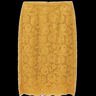 このコーデで使われているGUのひざ丈スカート[オレンジ]