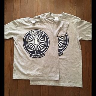 このコーデで使われている手作りのTシャツ/カットソー[グレー/ネイビー]