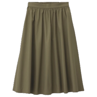 このコーデで使われているGUのスカート[カーキ]