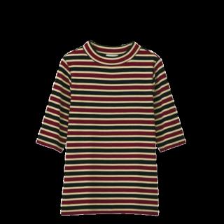 このコーデで使われているGUのTシャツ/カットソー[ブラック/ブラウン/レッド]