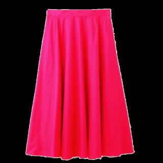 このコーデで使われているINDIVIのマキシ丈スカート[ピンク]