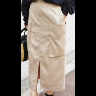 IENAのミモレ丈スカート