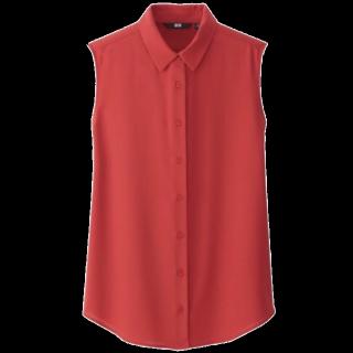 このコーデで使われているUNIQLOのシャツ/ブラウス[レッド]