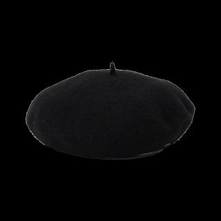 このコーデで使われている390マートのベレー帽[ブラック]
