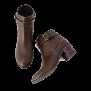 このコーデで使われているBoisson Chocolatのブーツ[ブラウン]