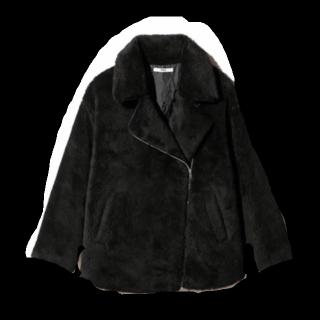 このコーデで使われているGRLのジャケット[ブラック]