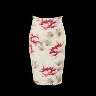 このコーデで使われているタイトスカート[ホワイト/ピンク/レッド]