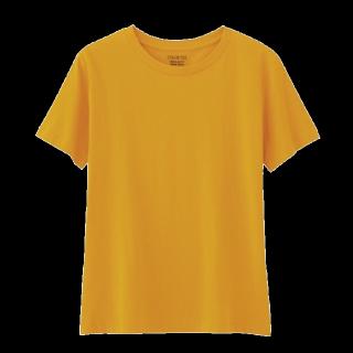 このコーデで使われているGUのTシャツ/カットソー[イエロー/オレンジ]