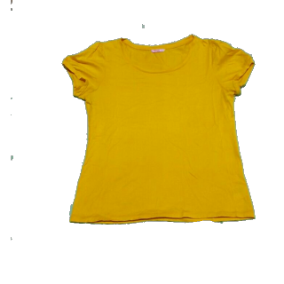 このコーデで使われているTシャツ/カットソー[イエロー]