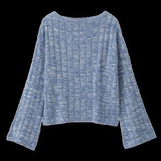 このコーデで使われているGUのニット/セーター[ブルー]