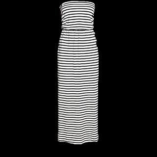 このコーデで使われているH&Mのマキシ丈ワンピ[ブラック/ホワイト]