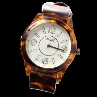 このコーデで使われているMe%の腕時計[ブラウン/ゴールド/ホワイト/キャメル]