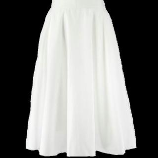 このコーデで使われているUNIQLOのミモレ丈スカート[ホワイト]