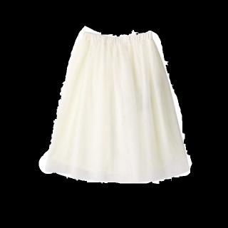 このコーデで使われているGRLのひざ丈スカート[ホワイト]