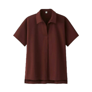 このコーデで使われているUNIQLOのポロシャツ[ボルドー]