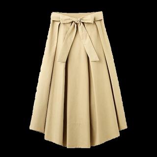 このコーデで使われているaquagirlのスカート[ベージュ]